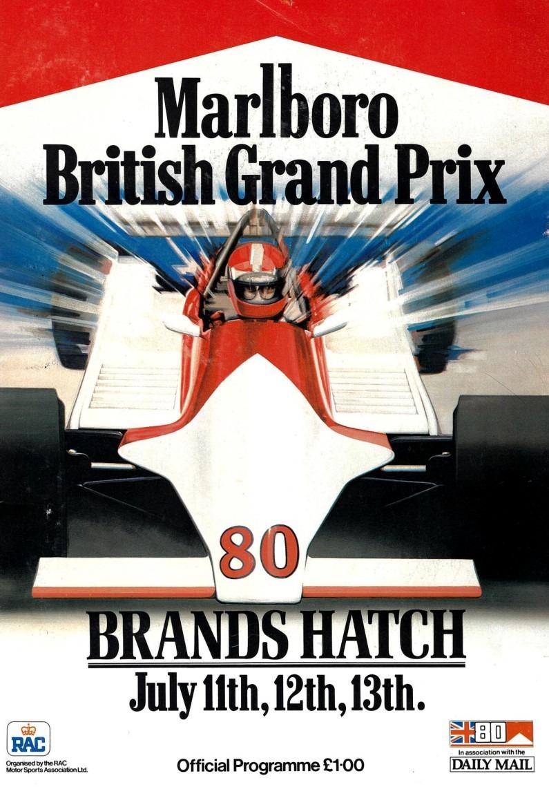 British Grand Prix 1980 front cover-Rapport advert
